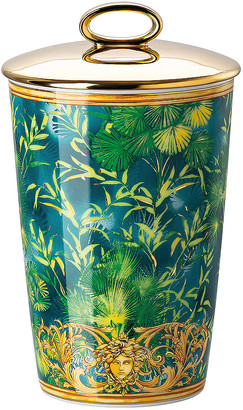 Versace Jungle Votive with Lid & Fragrance in Green | FWRD