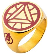 Iron Man Ironman Men's Marvel® Avengers Ironman Stainless Steel Arc Reactor Ring - Gold