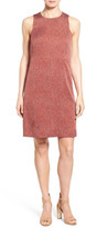 Nordstrom &Darlington& Print Pleat Back Silk Dress