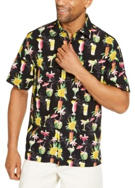 Tommy Bahama Men's Classic-Fit Tropical-Print Silk Camp Shirt