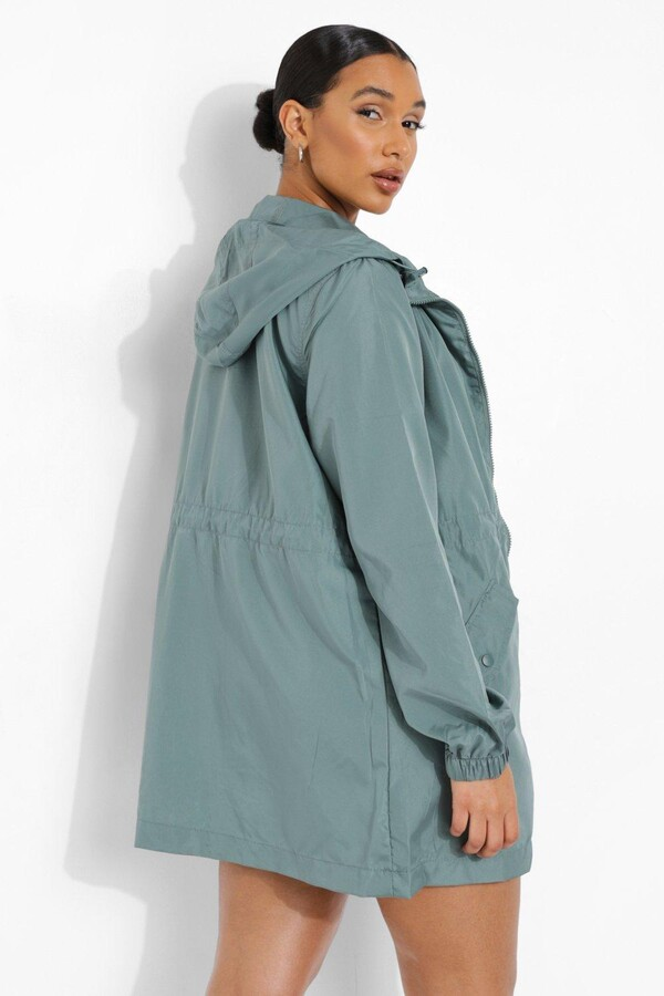 Thumbnail for your product : boohoo Hooded Synch Waist Mac