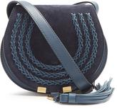 Chloé Marcie small suede cross-body bag