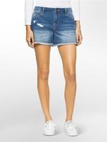 Calvin Klein Distressed Denim Weekend Shorts