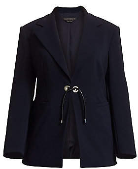 Marina Rinaldi Marina Rinaldi, Plus Size Women's Carnet Front-Tie Blazer