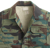 Camo Boys' sherpa-lined workshirt