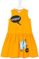 Fendi Oops! cat print dress - kids - Cotton/Spandex/Elastane - 2 yrs