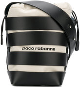 Paco Rabanne striped bucket tote
