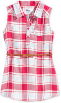Epic Threads Plaid Shirtdress, Toddler and Little Girls (2T-6X), Created for Macy's