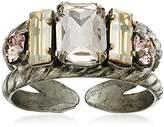 Sorrelli Satin Blush Petite Geo Adjustable Ring