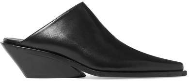 Ann Demeulemeester Leather Mules - Black