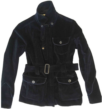 Edun Blue Velvet Jackets