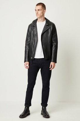 French Connenction Leather Biker Jacket