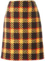 Marni plaid A-line skirt