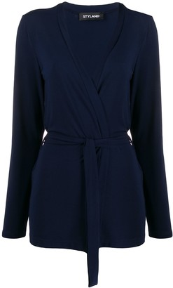 Styland belted lightweight cardigan