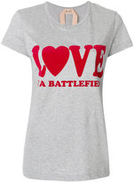 No.21 'Love is a Battlefield' T-shirt - women - Cotton - 38
