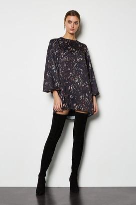 Karen Millen Camo Print Shift Dress