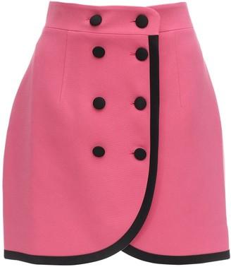 Button Embellished Mini Skirt
