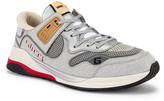 Gucci G Line Low Top Sneaker in Silver & White | FWRD