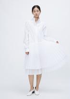 Wunderkind white sleeveless sheer dress