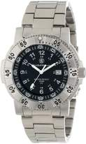 Smith & Wesson Men's SWW-357-SS Aviator Tritium H3 Stainless Steel Watch