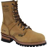 """AdTec Men's 1740 9"""" Steel Toe Logger Boot"""