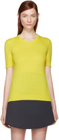 Courreges Yellow Rib Knit Sweater