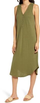 Faherty Annie Sleeveless Henley Midi Dress