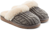 UGG Cozy Knit Slippers with Wool and Sheepskin