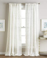 """CHF Embroidered Ogee 50"""" x 84"""" Rod Pocket Window Panel Bedding"""