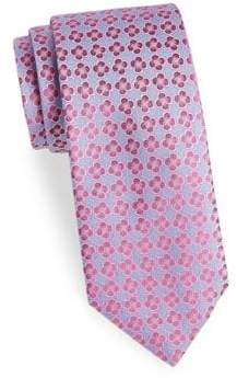 Charvet Floral Pattern Silk Tie