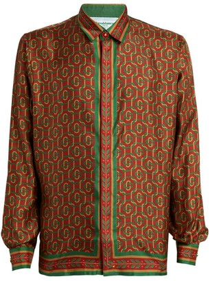 Casablanca Silk Interlocked Initial Shirt