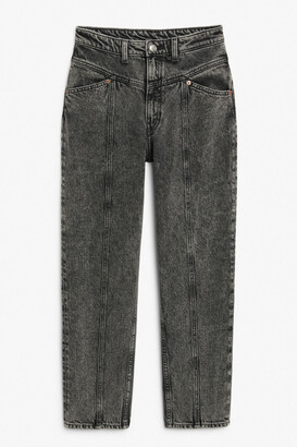 Monki Front seam jeans