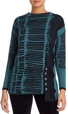 Nic+Zoe Printed Toggle Sweater