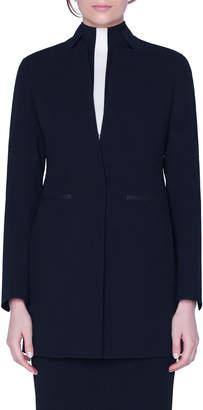 Akris Double-Face Wool Horsehair-Pocket Jacket