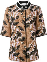 Carven jacquard short sleeve shirt - women - Polyester - 36