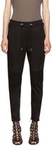 Balmain Black Twill Jogger Lounge Pants