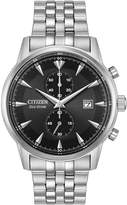 Citizen Eco-Drive Contemporary Chronograph Stainless Steel Bracelet Mens Watch