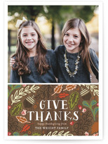 Minted Give Thanks Foliage Thanksgiving Cards