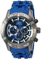 Invicta Men's 'Sea Spider' Quartz Stainless Steel and Polyurethane Casual Watch, Color:Blue (Model: 21914)
