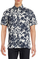Nautica Relax-Fit Hibiscus Floral Shirt