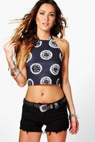 Boohoo Lucy Crochet Detail Denim Shorts