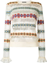 Alexander McQueen jacquard jumper - women - Silk/Polyamide/Spandex/Elastane/Viscose - M