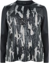 Krizia Sequin Embellished Camo Top