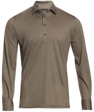 Saks Fifth Avenue COLLECTION Virgin Wool Long-Sleeve Polo