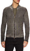 John Varvatos Foil Laminated Sweater Jacket