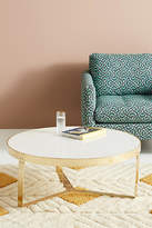 Anthropologie White Marble Lirit Coffee Table