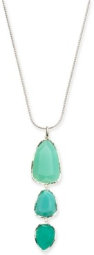 """Style&Co. Style & Co Triple Stone Pendant Necklace, 32"""" + 3"""" extender, Created for Macy's"""