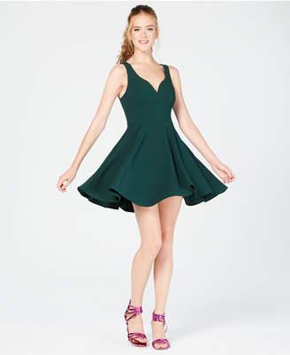 B. Darlin Juniors' V-Neck Fit & Flare Dress