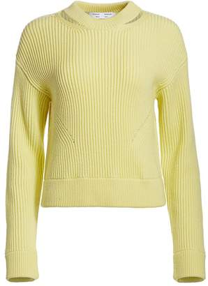 Proenza Schouler White Label Chunky Ribbed Wool Pullover