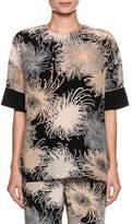 No.21 No. 21 Short-Sleeve Crewneck Printed Blouse